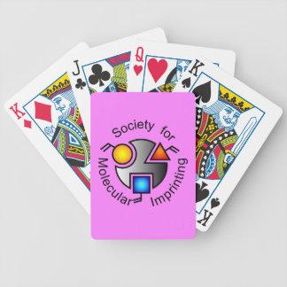 SMI logo playing cards pink