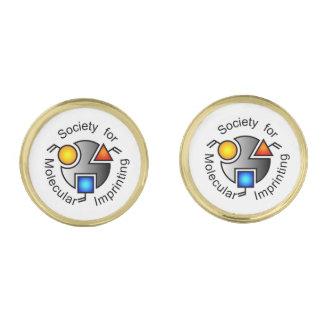 SMI logo round cufflinks gold