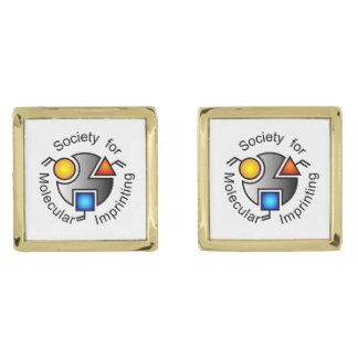 SMI logo square cufflinks gold