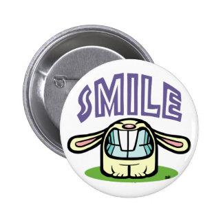 SMILE! 2 INCH ROUND BUTTON