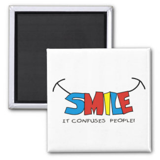 smile 2 inch square magnet