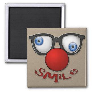 smile 2 inch square magnet