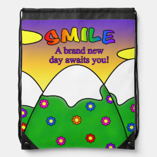 Smile A Brand New Day Awaits You Backpack