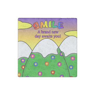 Smile A Brand New Day Awaits You Stone Magnet