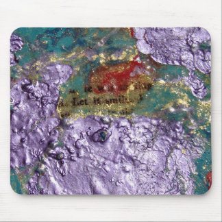 Smile Abstract Mixed Media Collage Mouse Pad
