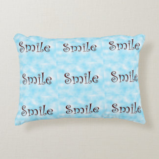 Smile-accent pillow
