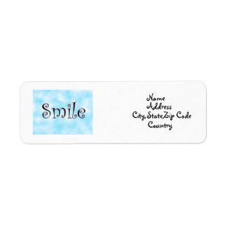 Smile-address label