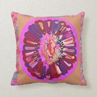 Smile and Laugh -  Rose Petal Art Throw Pillow