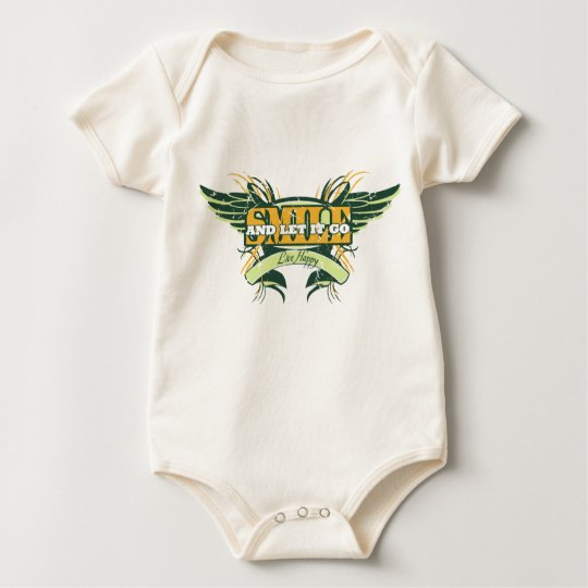 Smile and Let it Go Wings Baby Bodysuit