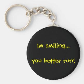 Smile and Run Keychain