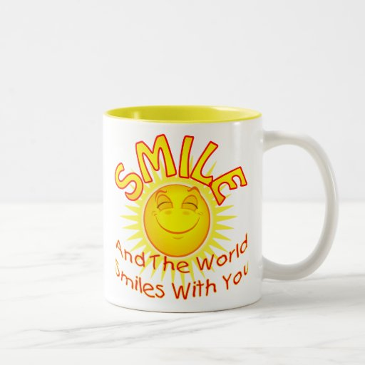 Smile and the Word Smiles with You (v2A) Mugs