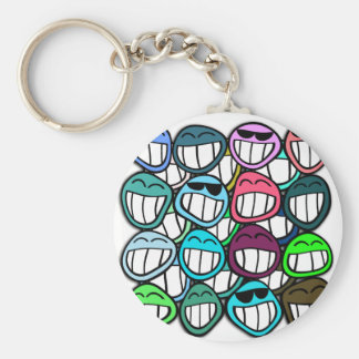 Smile - and the world smiles back at you! keychain