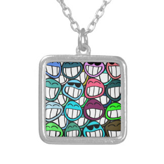 Smile - and the world smiles back at you! silver plated necklace