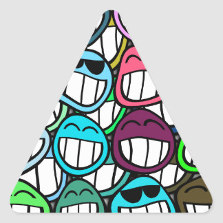 Smile - and the world smiles back at you! triangle sticker