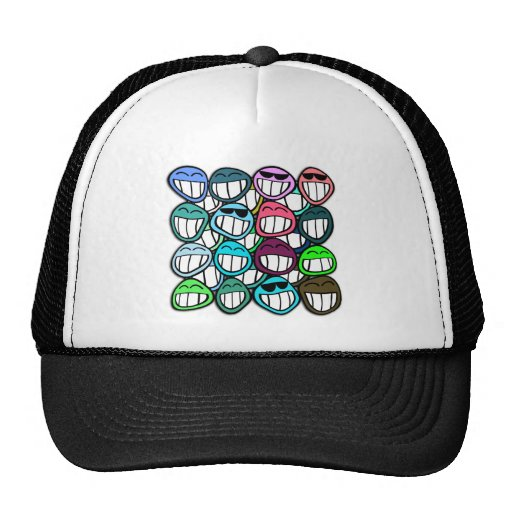 Smile - and the world smiles back at you! trucker hat