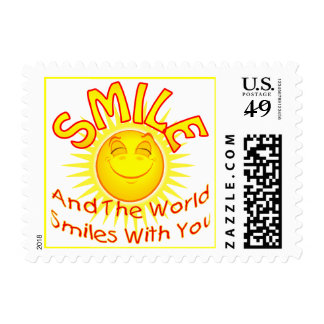Smile and the World Smiles with You (2) Postage