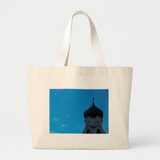 Smile and the world will smile back large tote bag