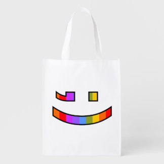 Smile and Wink Reusable Grocery Bag