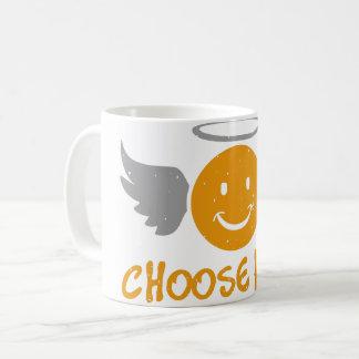 Smile Angel Emoji Choose Kind - Quote of The Day Coffee Mug