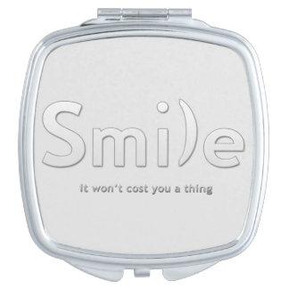 Smile Ascii Text Compact Mirror