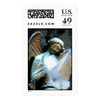 Smile at peace  postage stamp