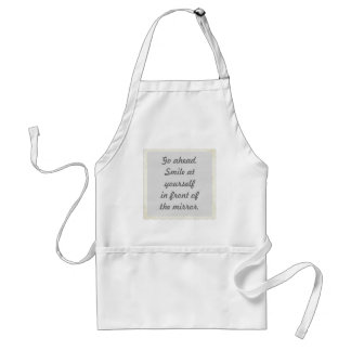 Smile at Yourself Affirmation Aprons