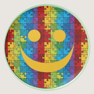 Smile Autism Awareness Plate