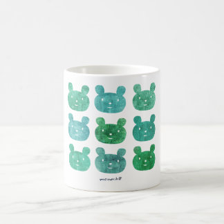 smile bear blue green mug