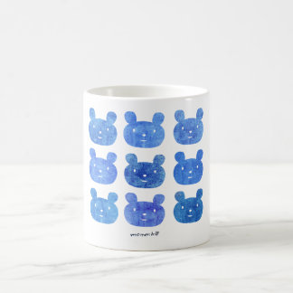 smile bear blue coffee mugs