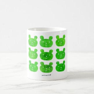smile bear green coffee mug