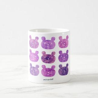 smile bear light purple coffee mug