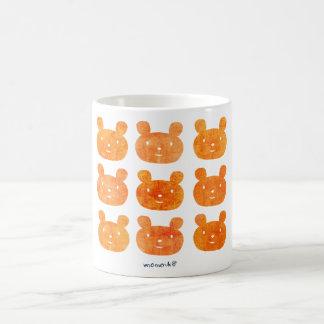 smile bear orange mug