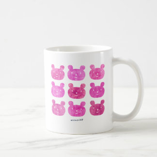 smile bear pink coffee mug