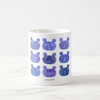 smile bear purple coffee mug