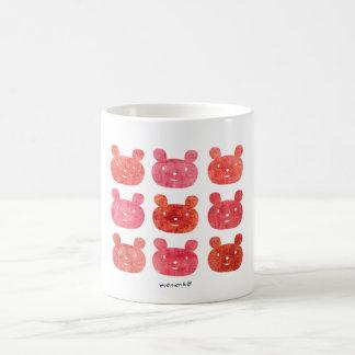smile bear red mug