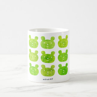 smile bear yellow green coffee mug