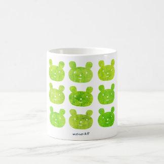 smile bear yellow green coffee mugs