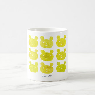 smile bear yellow mug