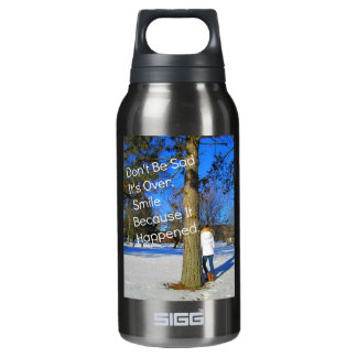 Smile Because It Happened Insulated Water Bottle
