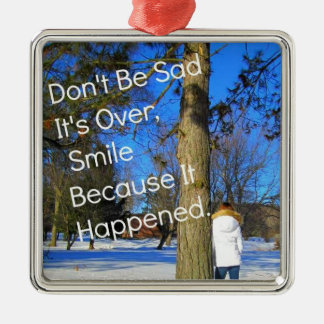 Smile Because It Happened Christmas Tree Ornaments