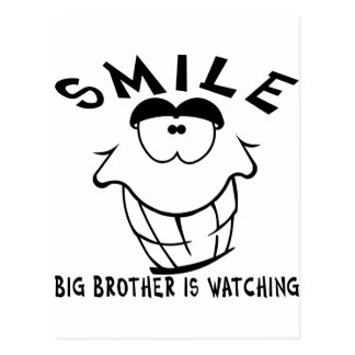 Smile Big Brother Is Watching Postcard