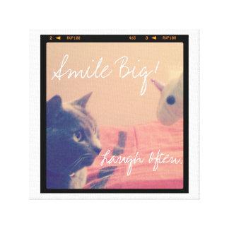 Smile Big Motivational Photo Canvas