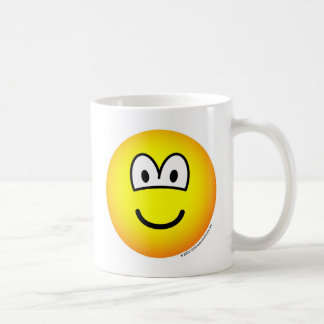 Smile! big tellow emoticon coffee mug