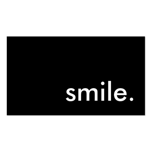 smile. business card templates