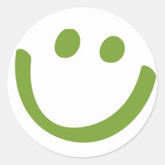 Smile! Classic Round Sticker