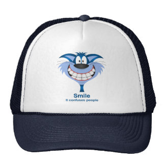 Smile confuse people trucker hat