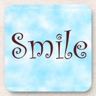 Smile-cork coaster