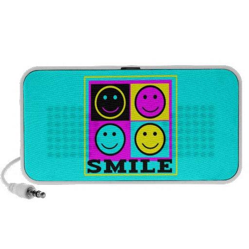 SMILE cute CMYK Smiley Faces Portable Speaker