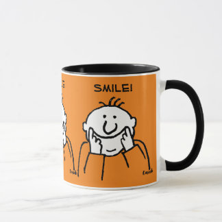 Smile! - Cute Smiling Man Illustration Mug