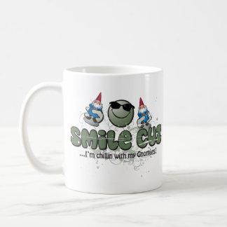 smile cuz... I'm chillin with my Gnomies! Classic White Coffee Mug